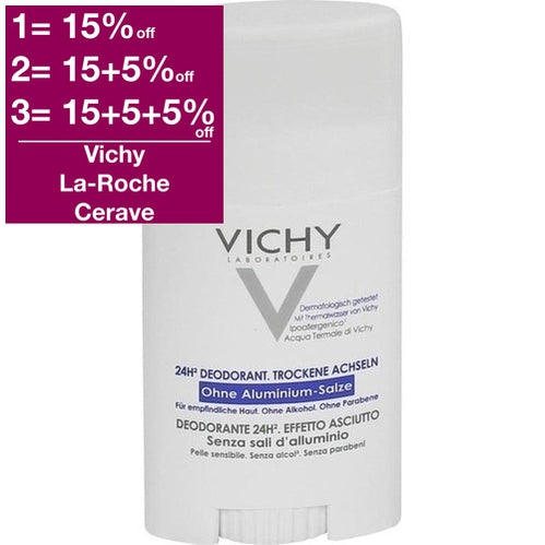 Vichy 24hr Deodorant Dry Touch Aluminuum Salts Free 40 ml is a Deodorant
