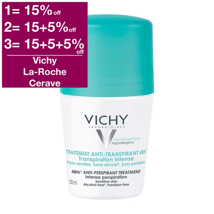 Vichy 48hr Anti-Perspirant Treatment Intense Perspiration 50 ml is a Deodorant
