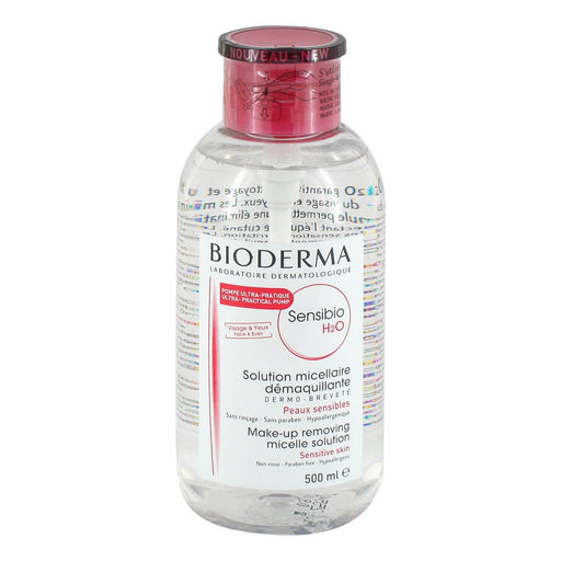 Bioderma Sensibio H2O Micelle Solution 500 ml - Pump Bottle