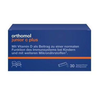 Orthomol Junior Vitamin C Plus Raspberry Lime - Direct Granules