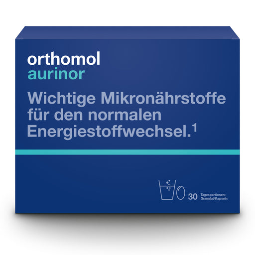 New Packaging Design - Orthomol Aurinor - Vitamins for Energy 30 days is a Vitamins
