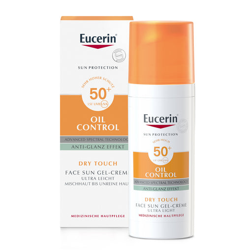 new packing - Eucerin Sun Gel Cream Oil Control - Anti shine SPF 50 +