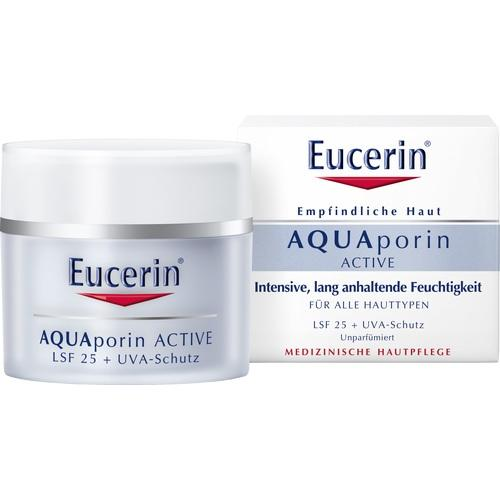 Eucerin Aquaporin Active With SPF 25 And UVA Protection For All Skin Types 50 ml is a Sunscreen for Face