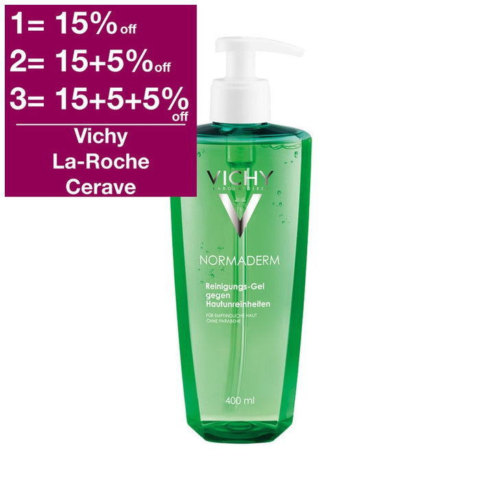 Old version - Vichy Normaderm Deep Purifying Cleansing Gel 400 ml is a Cleansing