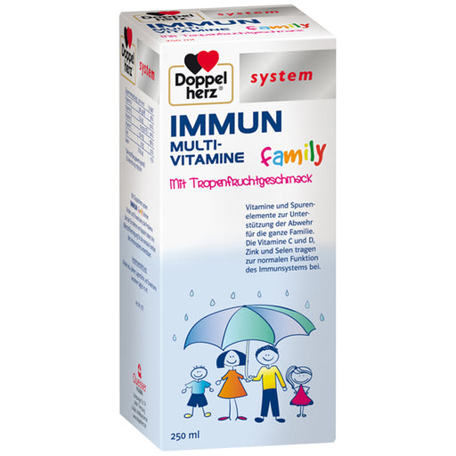 Doppelherz Immune Multivitamin Drink for Family 250 ml - box