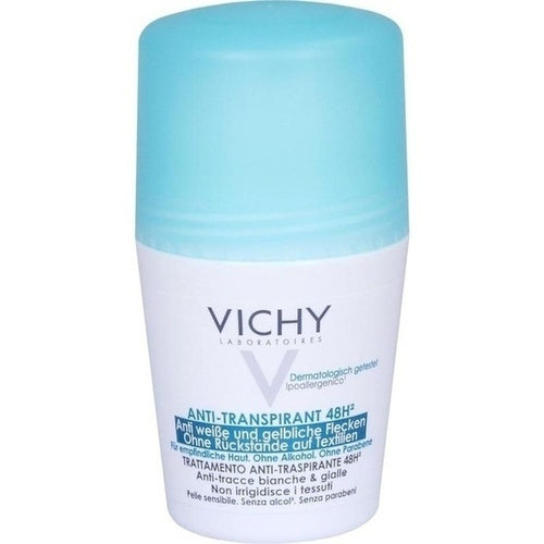 Vichy Deodorant No Marks Roll-On 48hr Anti-Perpirant 50 ml is a Deodorant