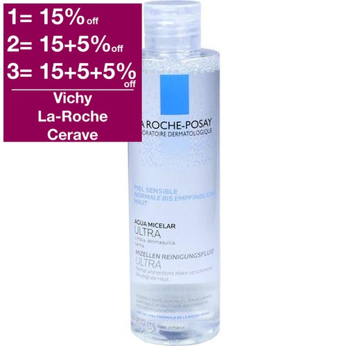 La Roche-Posay Micellar Cleansing Fluid Ultra For Sensitive Skin 200 ml is a Make Up Remover