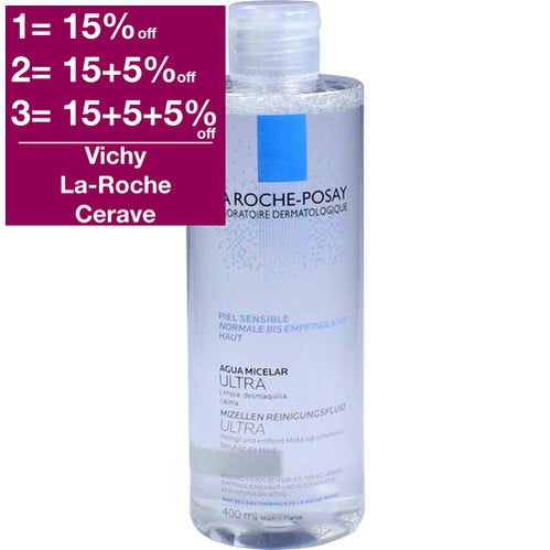 La Roche-Posay Micellar Cleansing Fluid Ultra For Sensitive Skin 400 ml is a Make Up Remover