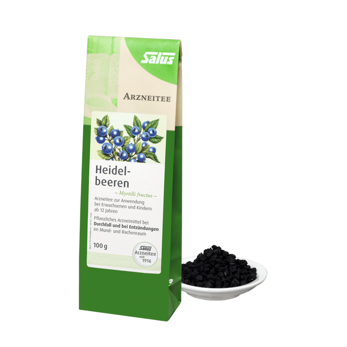 Salus Organic Blueberries Myrtilli Fructus Medicinal Tea 100 g