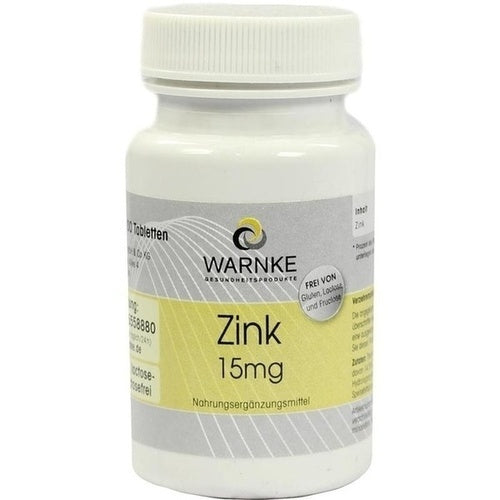Warnke Vitalstoffe Gmbh Zinc 15 Mg Tablets 100 pcs