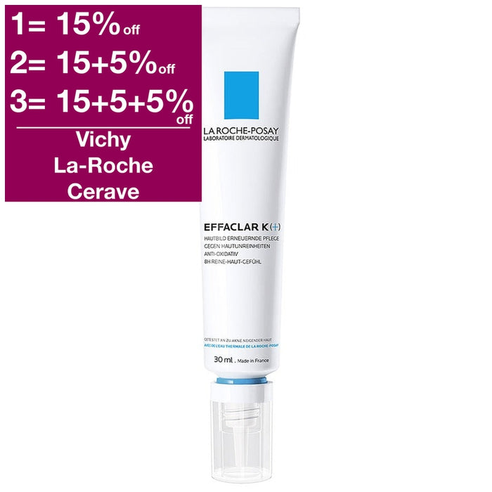 La Roche-Posay Effaclar K + Cream 30 ml is a Acne Treatment