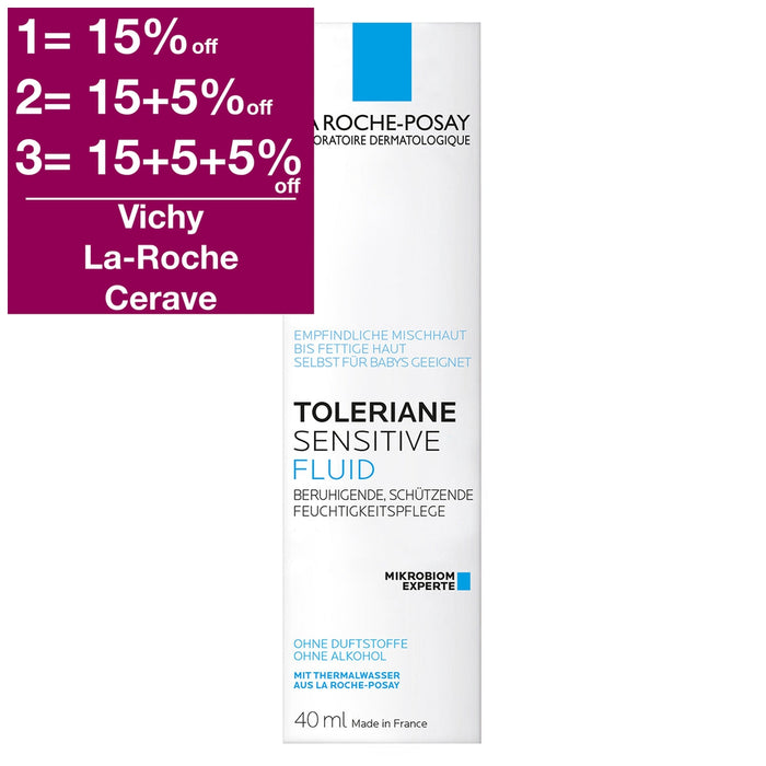 Buy La Roche-Posay Toleriane Sensitive Fluid 40ml with international shipping