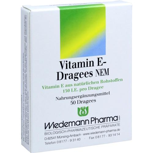Wiedemann Pharma Gmbh Vitamin E Dragees Nem 50 pcs