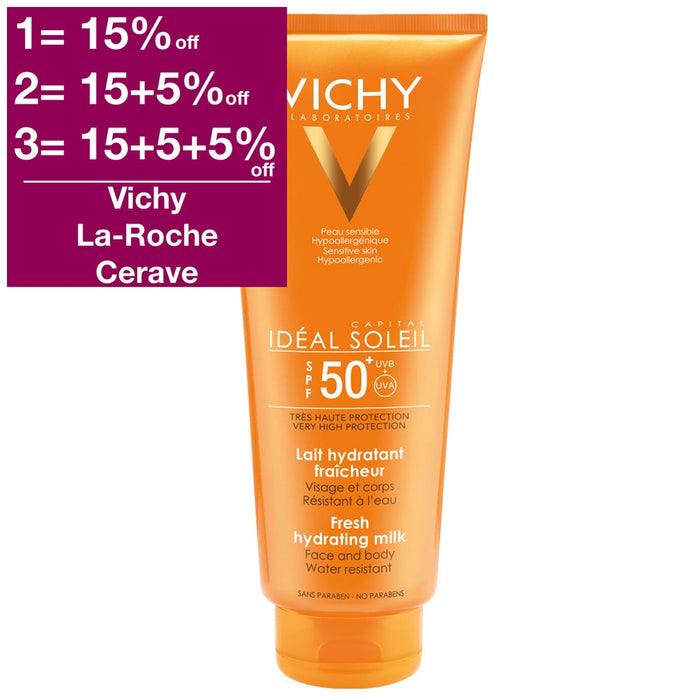 Old Package Design - Vichy Idéal Soleil Face & Body Sunscreen SPF 50+ Family 300 ml