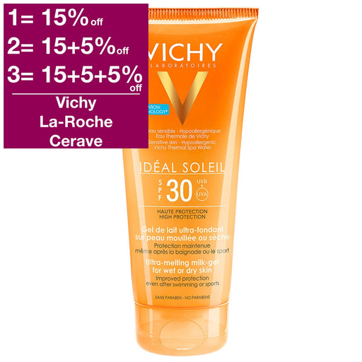 Vichy Ideal Soleil Wet Gel Lotion SPF 30 200 ml is a Sunscreen for Body