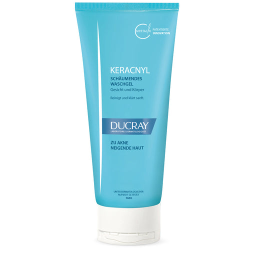 Ducray Keracnyl Cleansing Gel 200 ml is a cleanser for acne skin