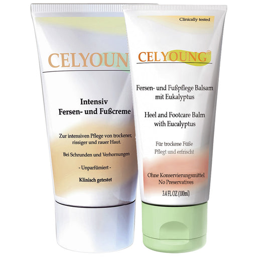 Bundled Pack: Celyoung Intensive Heel & Foot Cream & Balm with Eucalyptus