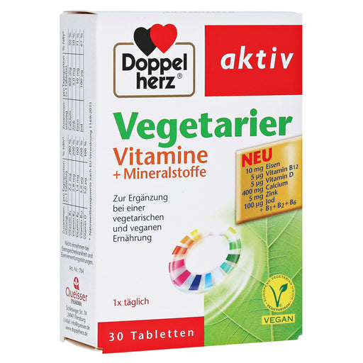 Doppelherz Active Vegetarian Vitamins+Minerals Tablets 30 pcs