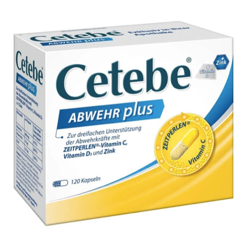 Cetebe Defense Plus Vitamin C + Vitamin D3 + Zinc Cape. 120 pcs