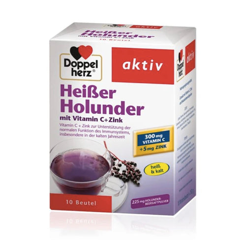 Doppelherz Vitamin C & Zinc Hot Drink - Elderberry 10 bags