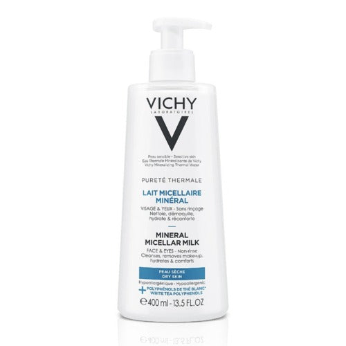 Vichy Pureté Thermal Minéral Micellar Milk For Dry Skin 400 ml