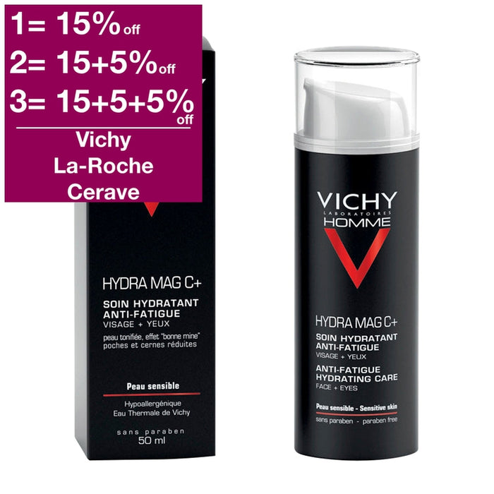 Vichy Homme Hydra Mag C Anti-Fatigue 2-In-1 Moisturizer 50 ml