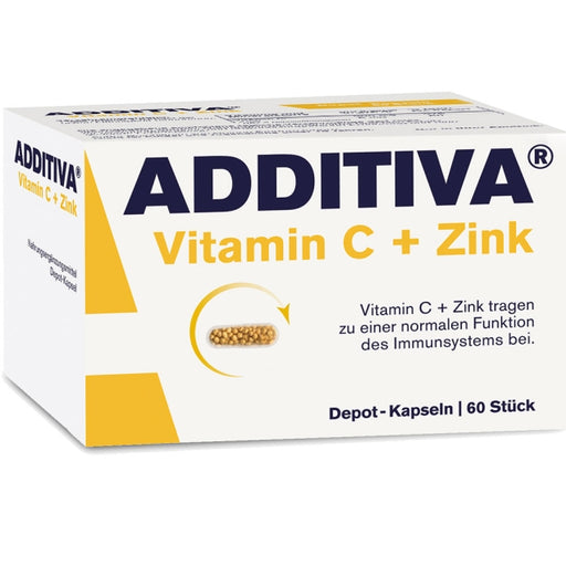 Additiva Vitamin C + Zinc Depot 300 mg 60 capsules