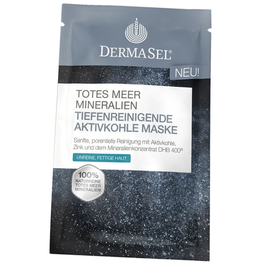 DermaSel Dead Sea Deep Cleansing Activated Charcoal Mask