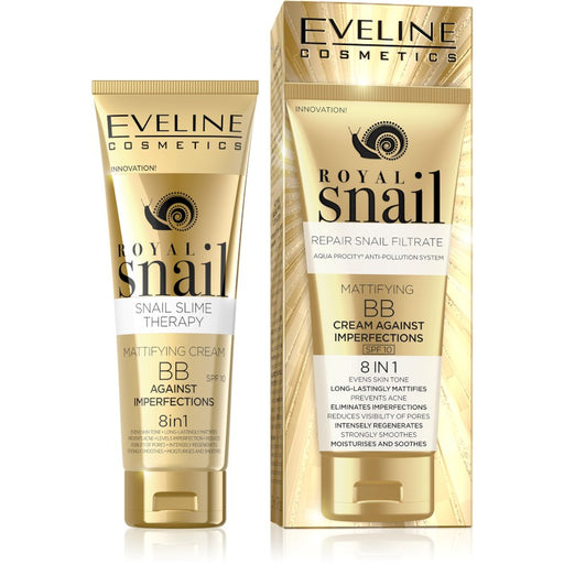 Eveline Cosmetics Royal Snail Mattifying BB Cream Against Imperfections 50 ml