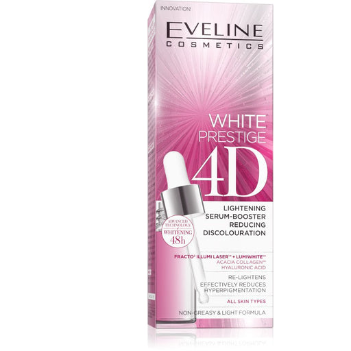 Eveline Cosmetics White Prestige 4D Lightening Serum-Booster Reducing Discolouration 18 ml