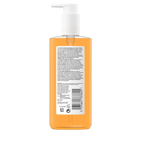 Neutrogena Anti-pimple Daily Wash Gel - back