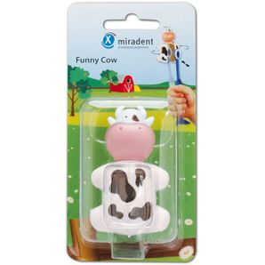Miradent Children Toothbrush Holder Funny Cow 1 pcs