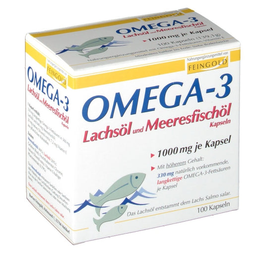 Feingold Feingold Omega-3 Salmon Oil and Marine Fish Oil Capsules 100 cap