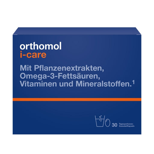New packaging design - Orthomol i-CAre - Dietary Supplement for Adults 30 days is a Vitamins