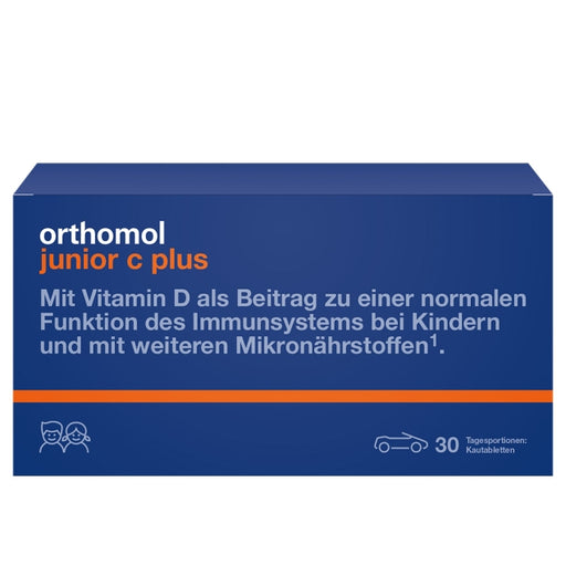 New packaging design - Orthomol Junior Vitamin C Plus Chewable Tab Mandarin Orange 30 days