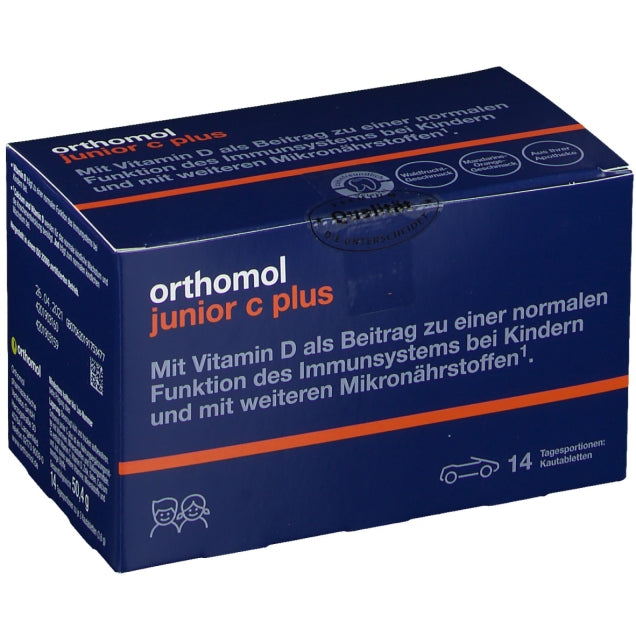 Orthomol Junior Vitamin C Plus Chewable Tab Forest Fruit and Mandarin 14 days