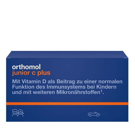 New packaging design - Orthomol Junior Vitamin C Plus Chewable Tab Forest Fruit and Mandarin 14 days is a Vitamins