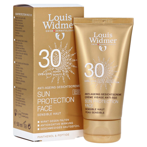 Louis Widmer Sun Protection Face Cream SPF 30 Unscented 50 ml