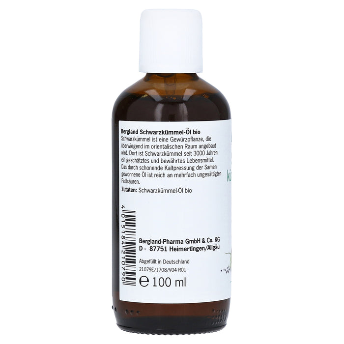 Bergland Organic Black Cumin Seed Oil Bio 100 ml is a Oil