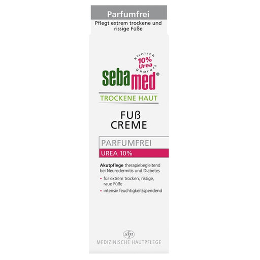 Sebamed Dry Skin Perfume Free Foot Cream Urea 10% 100 ml box
