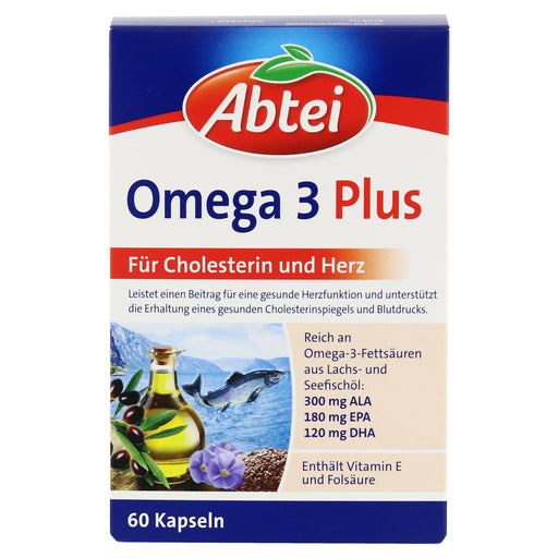 Abtei Omega-3-6-9 salmon oil + linseed oil + olive oil 60 pcs