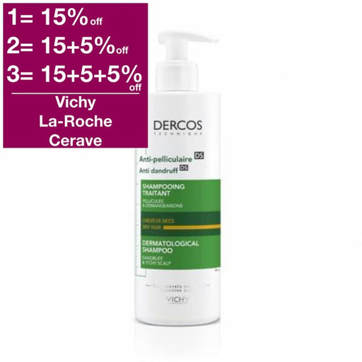 Vichy Dercos Anti-Dandruff Shampoo for Dry Hair - new packaging