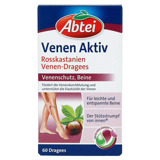 Abtei Vein Active (Horse Chestnut Vein Dragees) 60 pcs