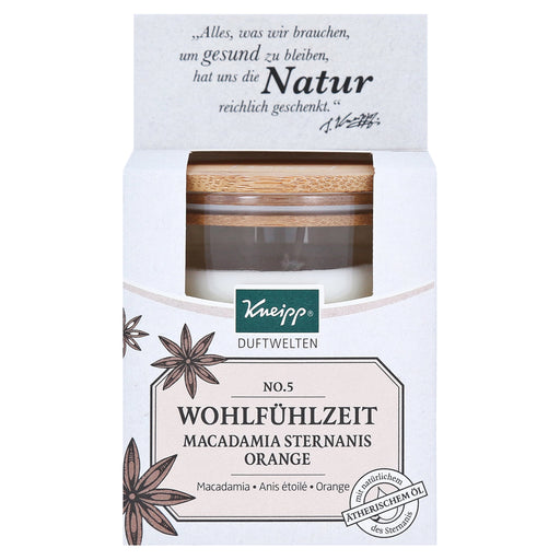 KNEIPP Duftwelten scented candles No.5 feel-good time Ma 145 g