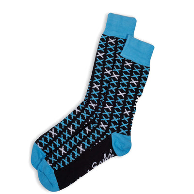 MENS SOCKS - CRUX - AUSTRALIAN COTTON - Sky / Main Image - 2-8