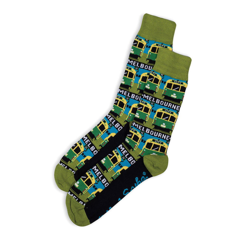 SOCKS - BING BING - AUSTRALIAN COTTON - Green / Main Image - 2-8