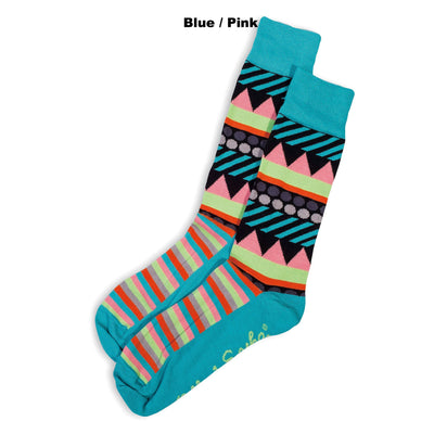 SOCKS  - BUNTING - AUSTRALIAN COTTON - Blue / Pink - 2-8