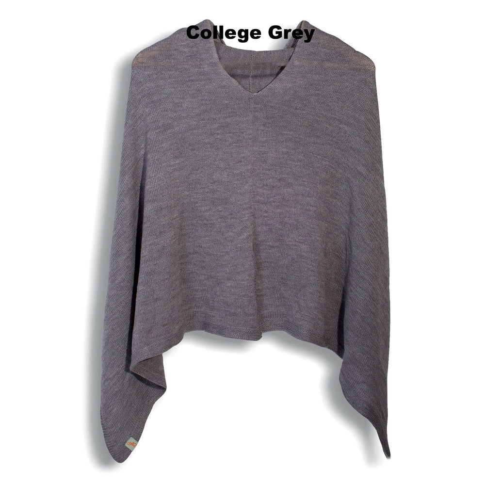 PONCHOS - BLUEBIRD - MERINO - College Grey -