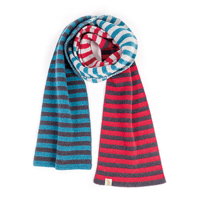 SCARVES - SHE'LL STOP TRAFFIC - LAMBSWOOL - Spanish Red / Charcoal / Main Image -
