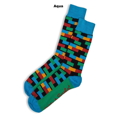 SOCKS - ELEPHANT - AUSTRALIAN COTTON - Aqua - 2-8